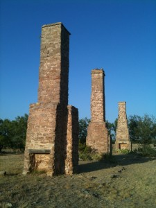 Fort Phantom Hill Chimneys