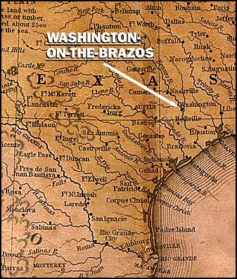 Washington-on-the-Brazos Map