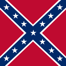Army of Virginia Battle Flag (Notice that it is SQUARE)