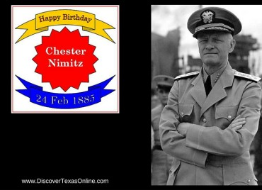 Happy Birthday, Admiral Chester Nimitz