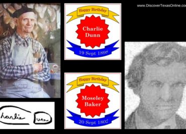 Happy Birthday, Charlie Dunn and Moseley Baker!